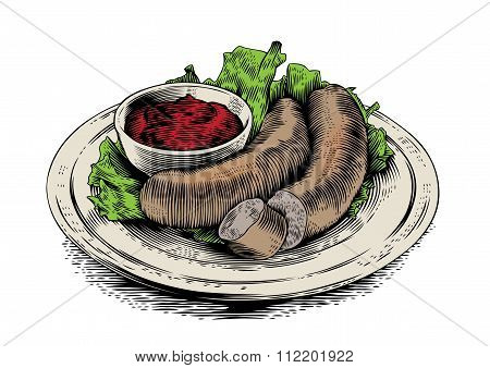 Sausages With Sauce