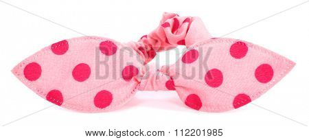 Hairband with hair bow tie pink