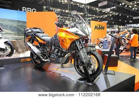 Bangkok - December 11 : Ktm Adventure Motorcycle On Display At The Motor Expo 2015 On December 11, 2