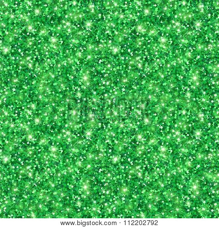Green shining seamless pattern Patricks Day