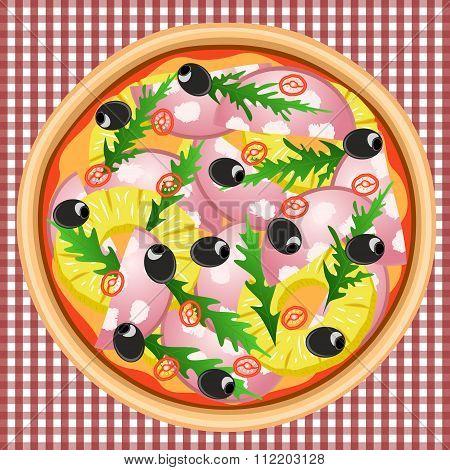 Pizza Pineapple Sausage Chili