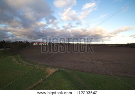 Overview Over Field In Richtenberg, Mecklenburg-vorpommern, Germany
