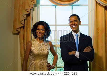 Bangkok, Thailand - December 19: A Waxwork Of Barack Obama On Display At Madame Tussauds On December