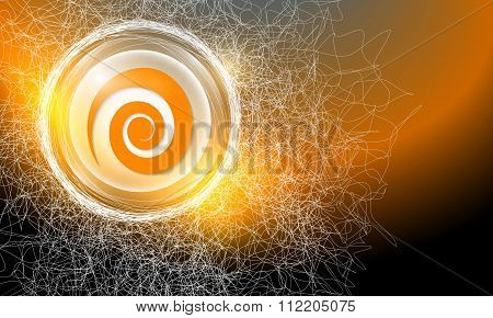 Background With Spiral