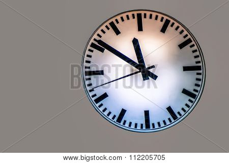 Time Is Running To Change On Isolated Grey Background