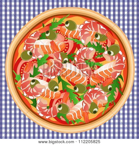 Pizza Seafood Salmon Shrimp