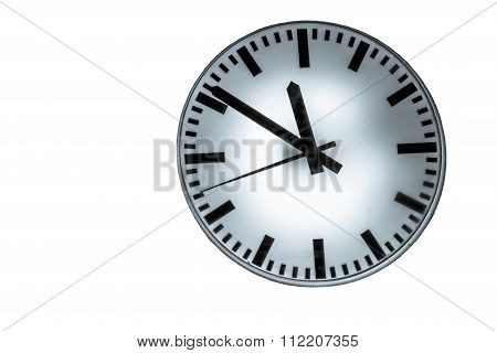 Time Is Running To Change On Isolated Background