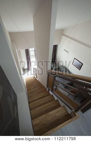 Staircase In Duplex Apartment Interior