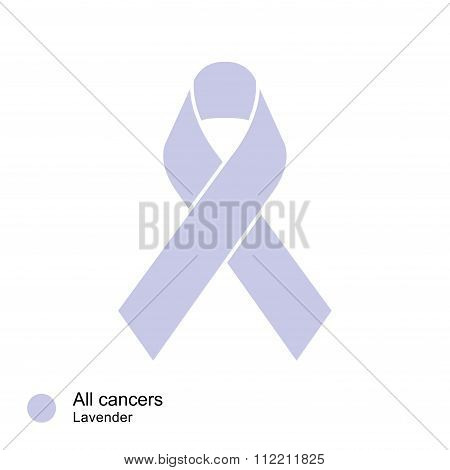 all cancer ribbon vector