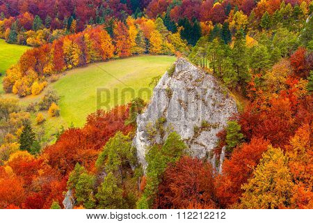 Sulov rocks in Autumn