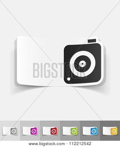 realistic design element. photo camera