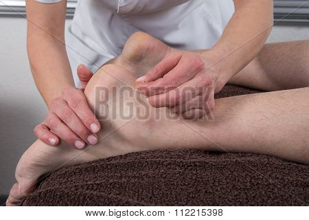 The Reflexology Foot Massage At Health Center