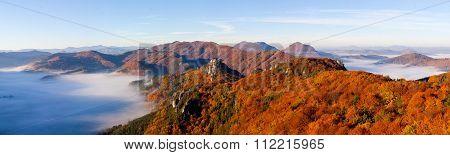 Sulovske Skaly Autumn Panorama