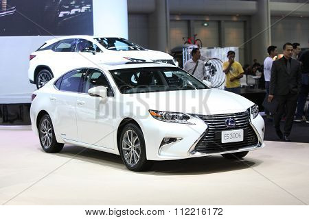 Bangkok - December 11: Lexus Es 300H Car On Display At The Motor Expo 2015 On December 11, 2015 In B
