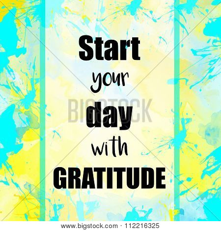 Start your day with gratitude message