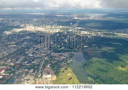 Birds-eye View Of Yekaterinburg, Sverdlovsk Region, Russia - Aerial Panorama