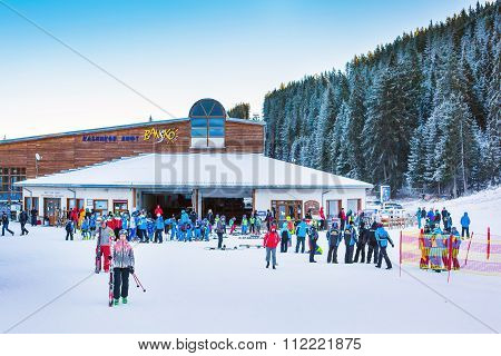 Bunderishka polyana, ski station, cable car lift, Bansko, Bulgaria