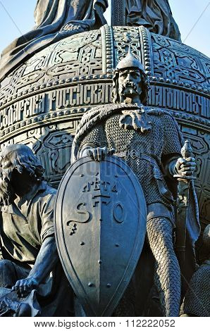 Monument Millennium Of Russia In Veliky Novgorod, Russia