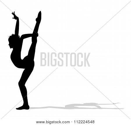 silhouette of acrobat dancer