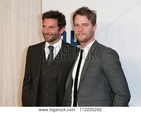 NEW YORK-DEC 13: Actor Bradley Cooper (L) and Jake McDorman attend the