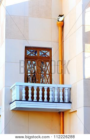Buildings Wall With Balcony