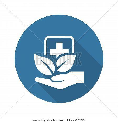 Alternative Medicine Icon. Flat Design.