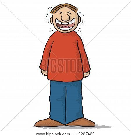 a character with funny smile
