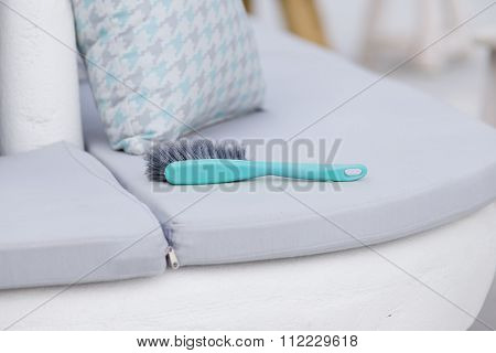 Cleaning Brush On Pillows
