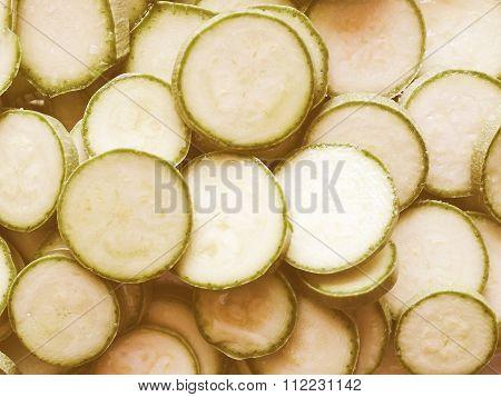 Retro Looking Courgettes Zucchini