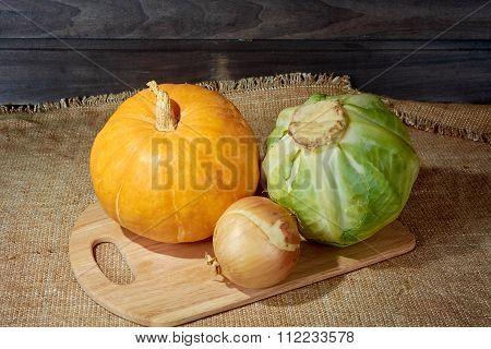 Pumpkin Cabbage Onions