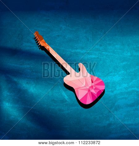Guitar polygon cover easy all editable