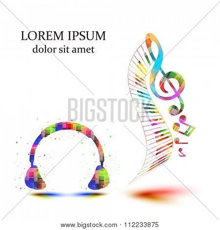 Headphones with note easy all editable