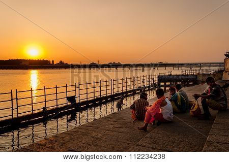 Ghats On River Cauvery At Trichy