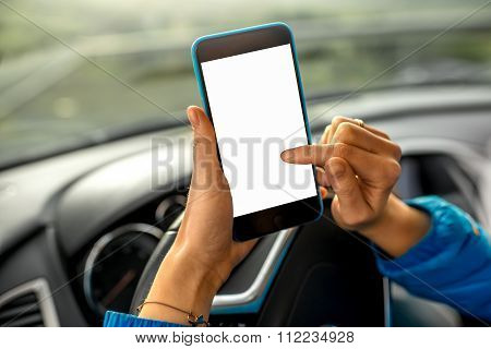 Using smartphone in the car