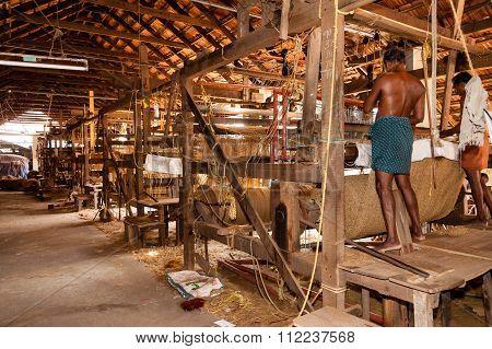 Coir Loom in Kerala India