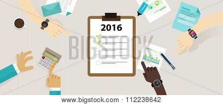 year target check list business review plan resolution