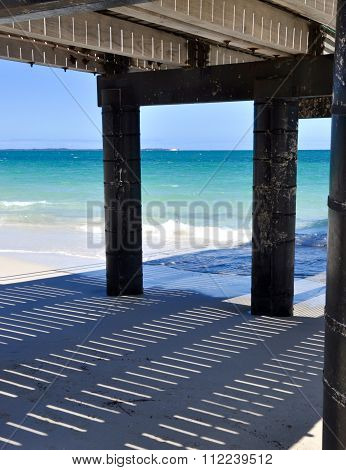 Jetty Shadows: Indian Ocean Blue