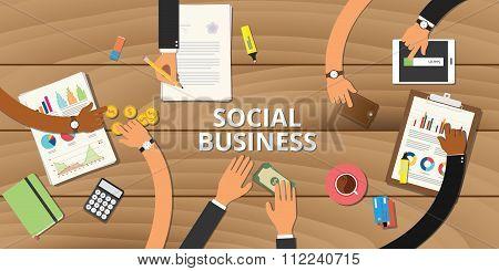 social business entrepreneurship concept graph data