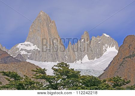 Jagged Peaks On A Sunny Day