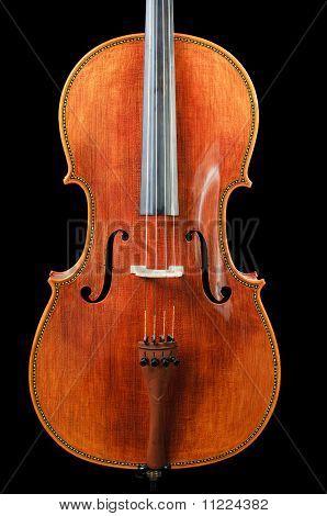 Cello on black