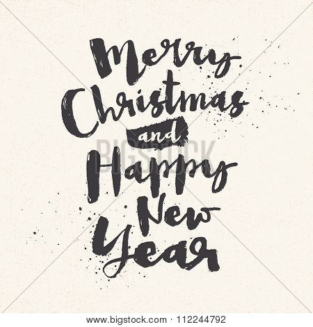 Merry Christmas and Happy New Year greeting card - EPS10