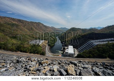 Srinagarind Dam Is An Embankment Dam On The Khwae Yai River In Si Sawat District Of Kanchanaburi