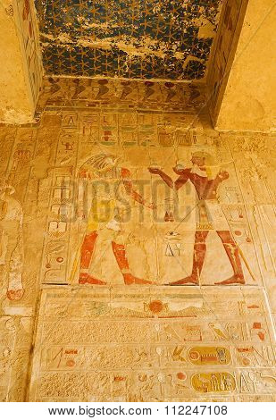 Decorations Of Hatshepsut Temple