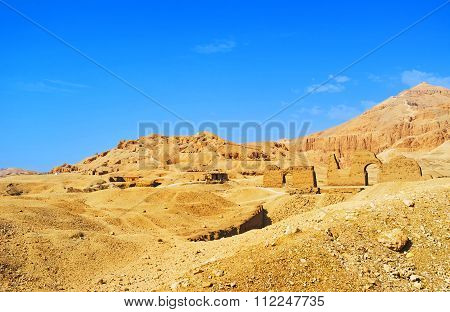 The Ruins In Desert