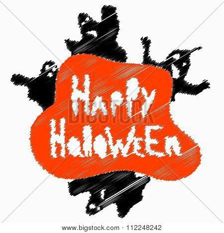 Halloween Perfume Blurry Objects Vector Illustration