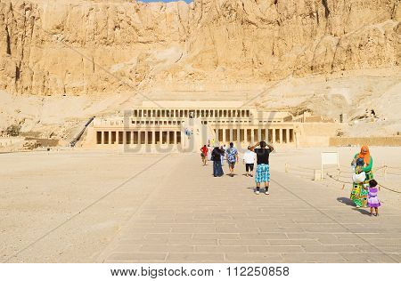 Tourists In Hatshepsut Temple