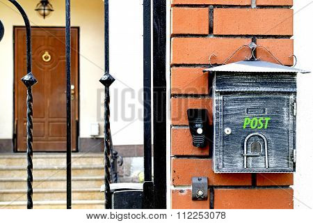 Concrete Mailbox on white wall