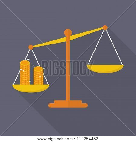 Balance Scale With Coin