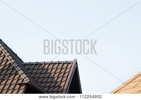 Roof and blue sky
