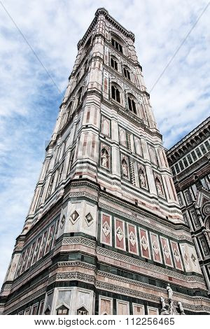 Giotto's Campanile In Florence, Tuscany, Italy, Cultural Heritage